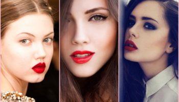 Красная помада и цвет волос: правила сочетания макияжа