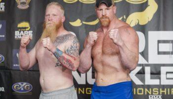 Боксерский бой без перчаток закончился первым ударом