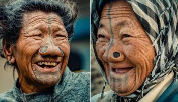 Зачем индийские женщины-апатани носят втулки в носу